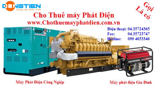 cho thuê máy phát điện các loại công suất từ 1- 2000 KVA