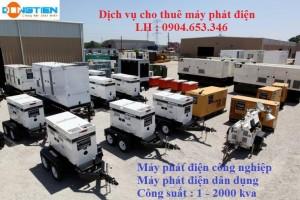 dịch vụ cho thuê máy phát điện