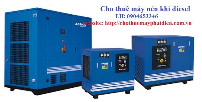 cho thuê máy nén khí diesel công nghiệp ép cọc