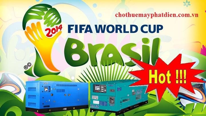khuyến mãi mua và thuê máy phát điện mùa world cup không lo mất điện