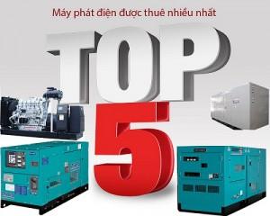 Top 5 sản phẩm máy phát điện được khách hàng thuê nhiều nhất