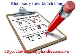 bảng khảo sát khách hàng thuê máy phát điện