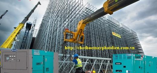 các công trình xây dựng thuê máy phát điện công nghiệp