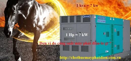 Đơn vị đo công suất máy phát điện