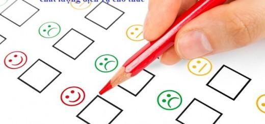 khảo sát đánh giá của khách hàng
