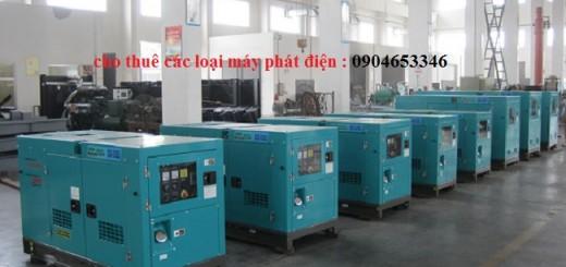 xưởng máy phát điện cho thuê của công ty Đồng Tiến